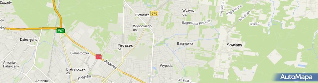 Zdjęcie satelitarne SaMASZ Sp. z o.o.