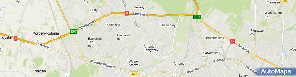 Zdjęcie satelitarne Scech Dariusz Handel Białystok