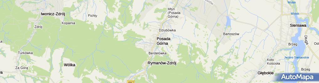 Zdjęcie satelitarne Ścinka i Zrywka Drewna Rajchel Stanisław