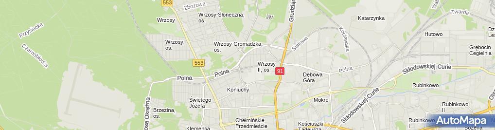 Zdjęcie satelitarne Sekuro Sławomir Stolarski i Wspólnicy