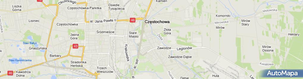 Zdjęcie satelitarne Self24.pl Magazyny Samoobsługowe Self Storage Częstochowa