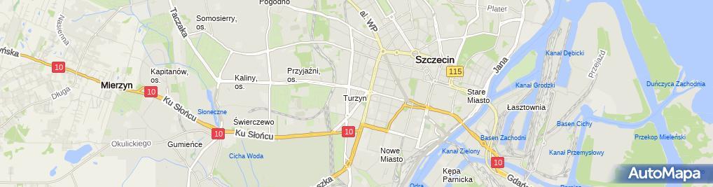 Zdjęcie satelitarne Serafin Jarosław Piotr Domański