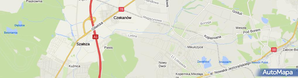 Zdjęcie satelitarne Serwis Naprawa Lokomotyw Łukasz Wiaderny