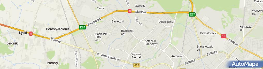 Zdjęcie satelitarne Sfora Salon Fryzjerski Dla zwierząt Joanna Pranszke