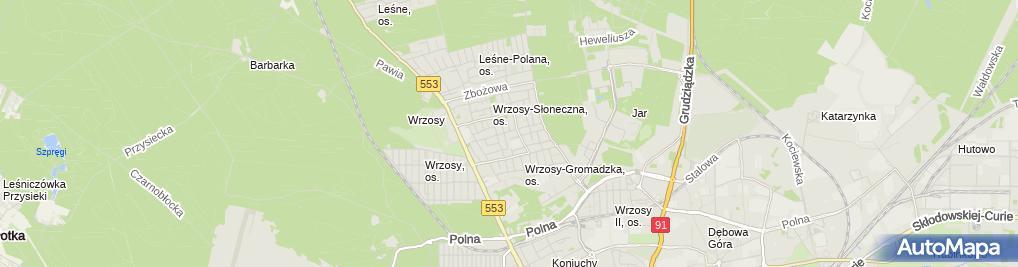 Zdjęcie satelitarne Shopnet GSM