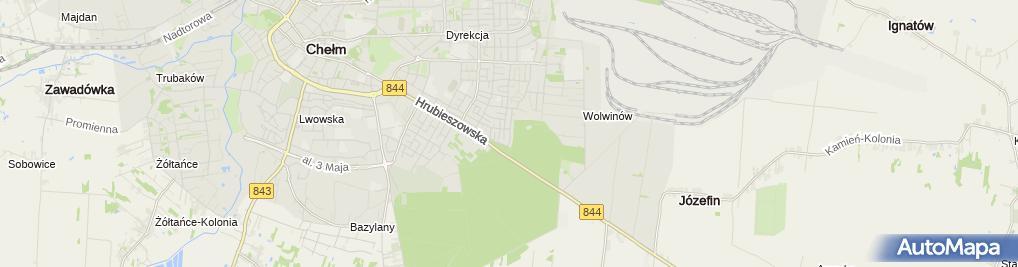 Zdjęcie satelitarne Skład Materiałów Budowlanych Piotr Błaszko Krzysztof Łuba