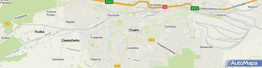 Zdjęcie satelitarne Sklep Kosmetyczno Chemiczny Okazja w Zawieszeniu