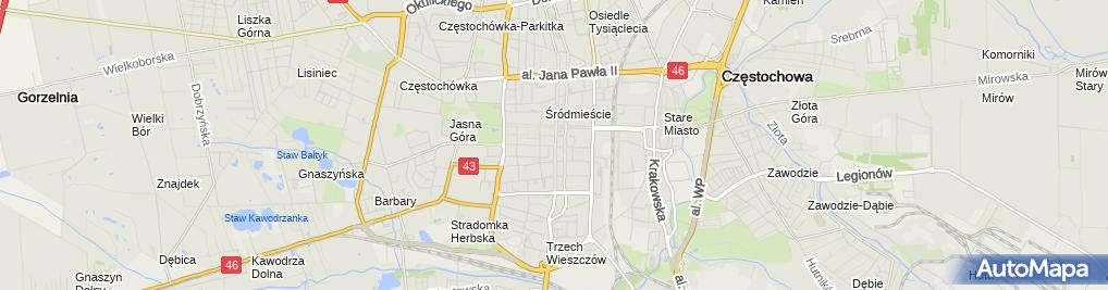 Zdjęcie satelitarne Sklep Medyczny Ortin Sylwester Karoń