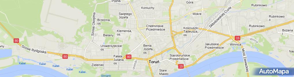 Zdjęcie satelitarne Sklep Obuwniczy Leda - Soliński Maciej