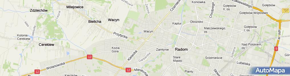 Zdjęcie satelitarne Sklep Ogólnospożywczy Eva