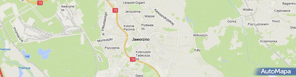 Zdjęcie satelitarne Sklep Papierniczy Kleks Kania Dariusz, Kania Bożena