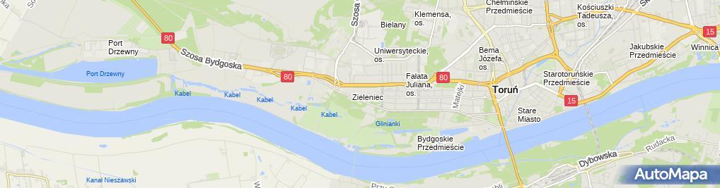 Zdjęcie satelitarne Sklep Spożywczo Przemysłowy Dąbrowska Jadwiga Liczbik Józef