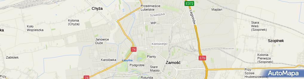 Zdjęcie satelitarne Sklep Wielobranżowy Piwkowska Anna Tarłowska Małgorzata