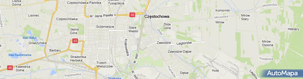 Zdjęcie satelitarne Skup i Sprzedaż Surowców Wtórnych SP Cyw z Sobczyk z Sobczyk