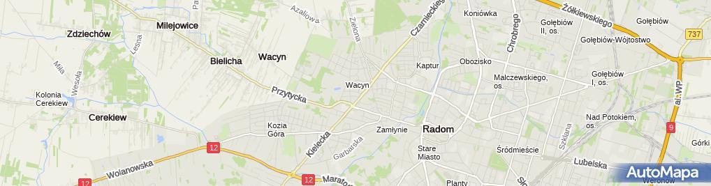 Zdjęcie satelitarne Skup Opakowań Szklanych