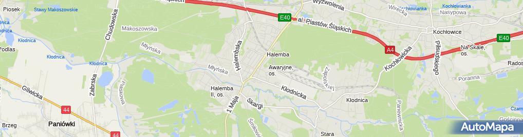 Zdjęcie satelitarne Śląska Grupa Dystrybucyjna Sławomir Barański