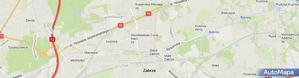 Zdjęcie satelitarne Śląskie Centrum Chorób Serca w Zabrzu