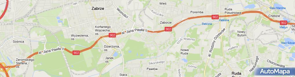 Zdjęcie satelitarne Śląskie Centrum Instalacji