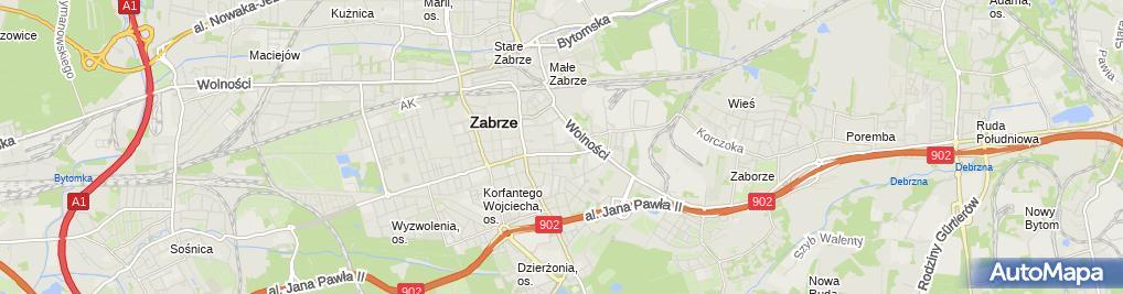 Zdjęcie satelitarne Śląskie Stowarzyszenie Niepełnosprawnych Płetwonurków