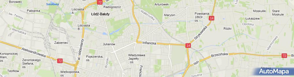 Zdjęcie satelitarne Sławomir Antoni Matuszewski Łódź Irysowa 3