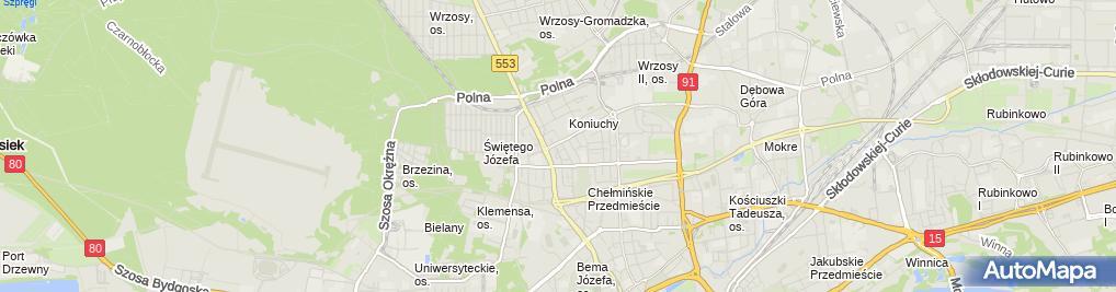 Zdjęcie satelitarne Sławomir Molus Cafe Molus
