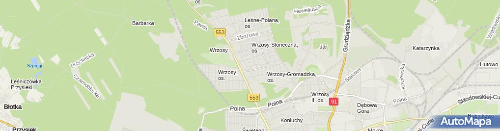 Zdjęcie satelitarne Smaczek Michał Prusak