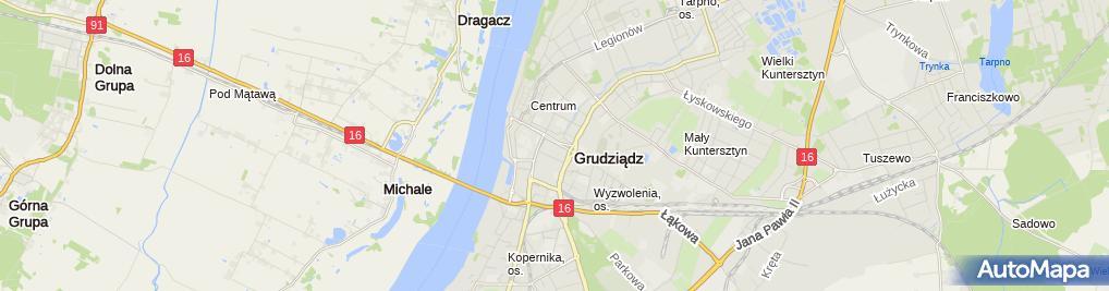 Zdjęcie satelitarne Smakosz