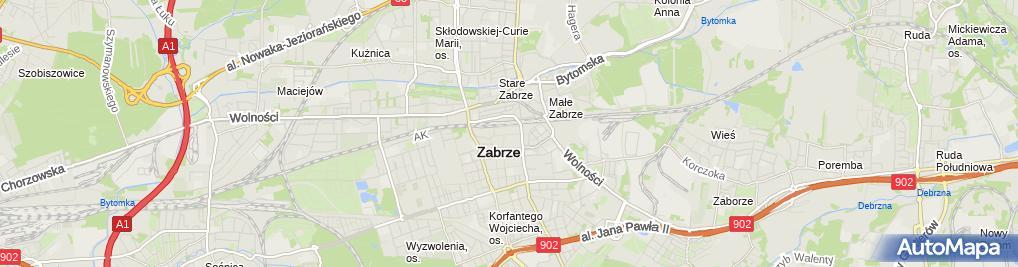 Zdjęcie satelitarne Specjalistyczna Praktyka Lekarska Andrzej Jureczko