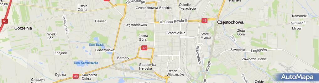 Zdjęcie satelitarne Specjalistyczny Gabinet Lekarski