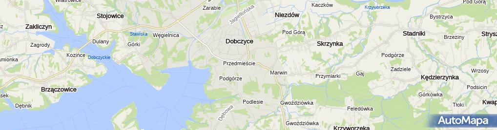 Zdjęcie satelitarne Spółdzielnia Kółek Rolniczych w Dobczycach