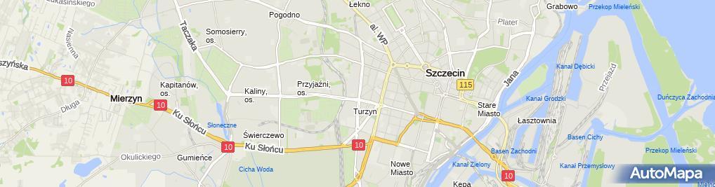Zdjęcie satelitarne Spółdzielnia Mieszkaniowa Tęcza