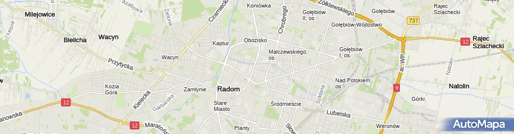 Zdjęcie satelitarne Spółdzielnia Pracy Przetwórstwa Spożywczego Radkon w Radomiu [ w Likwidacji