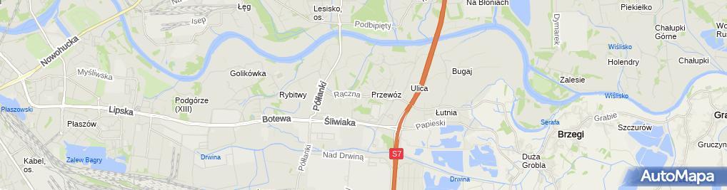 Zdjęcie satelitarne Spółka Dla Zagospodarowania Wspólnoty Gruntowej w Przewozie Kraków