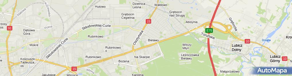 """Zdjęcie satelitarne """"Sportim"""" Izabela Kmieć"""