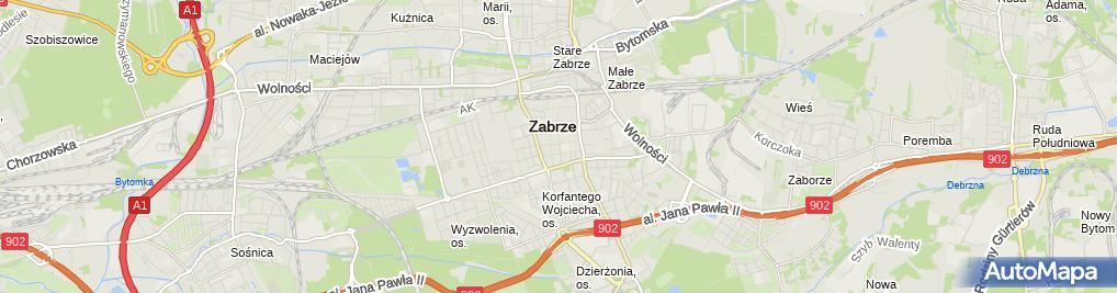 Zdjęcie satelitarne Sprzedaż Wysyłkowa Adam i Ewa Ziętkowski Albin