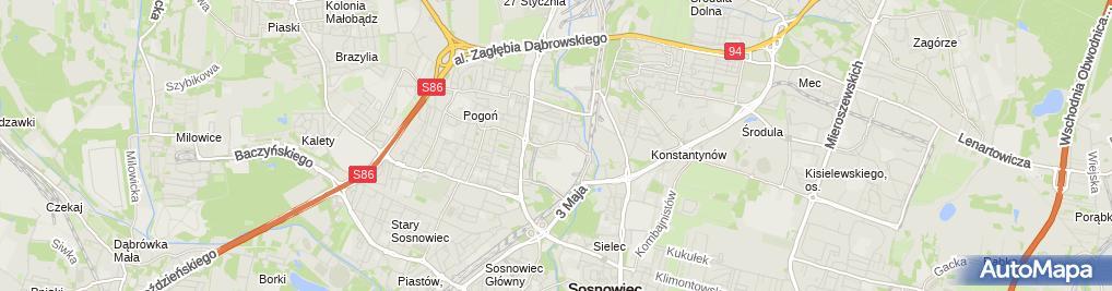 Zdjęcie satelitarne Stacja Kontroli Pojazdów Oskar S i K Szymkiewicz
