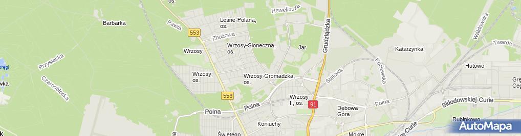 Zdjęcie satelitarne Stalmar Dawid Andrzejewski