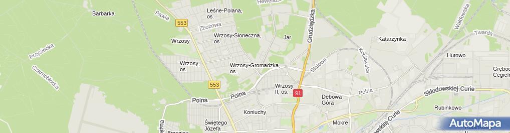 Zdjęcie satelitarne Stanisław Kuźma Color Outlet
