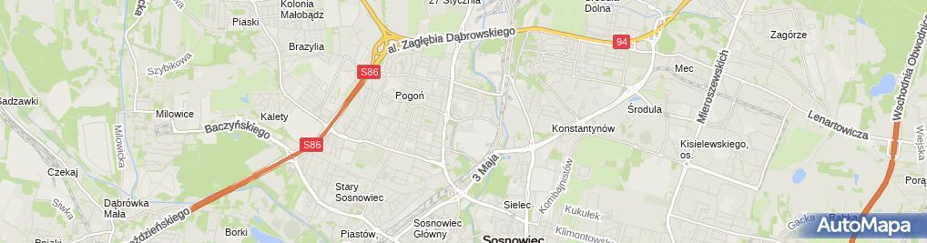 Zdjęcie satelitarne Stanisław Strączek - Działalność Gospodarcza