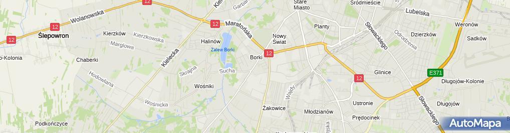 Zdjęcie satelitarne Staniszewska Kozioł