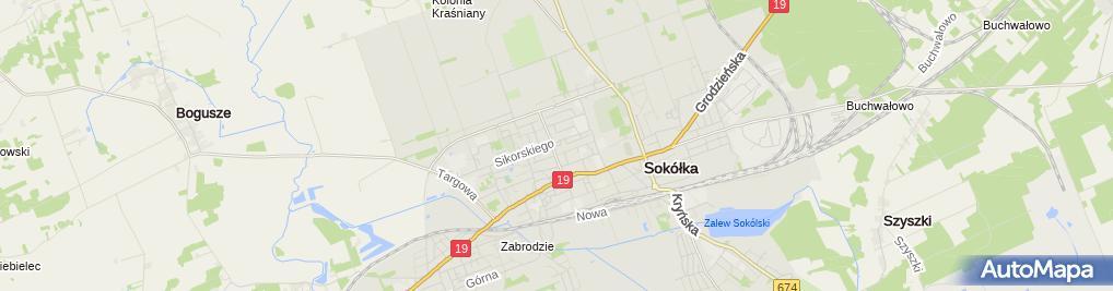 Zdjęcie satelitarne Starostwo Powiatowe w Sokółce