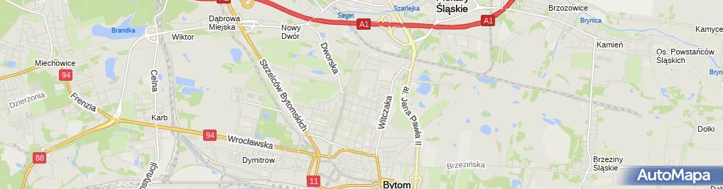 Zdjęcie satelitarne Stowarzyszenie Absolwentów Centrum Kształcenia Ustawicznego w Bytomiu