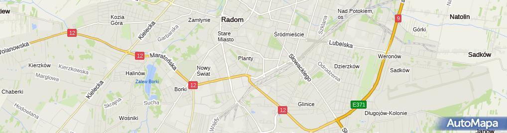 Zdjęcie satelitarne Stowarzyszenie Animacji Społeczno Kulturalnych Jestem w Radomiu