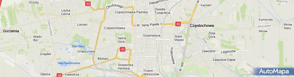 Zdjęcie satelitarne Stowarzyszenie Archeologiczno Numizmatyczne im Władysława Terleckiego w Częstochowie