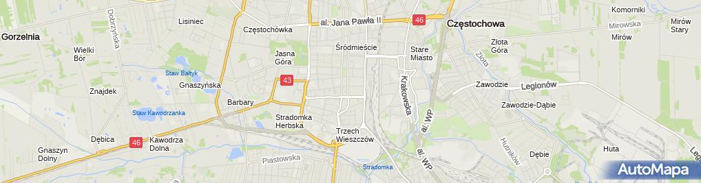 Zdjęcie satelitarne Stowarzyszenie Kultury Zdrowotnej i Sportu Speleoklub Częstochowa