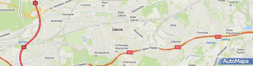 Zdjęcie satelitarne Stowarzyszenie Pamięci Tragedii Śląskiej 1945 z Siedzibą w Knurowie