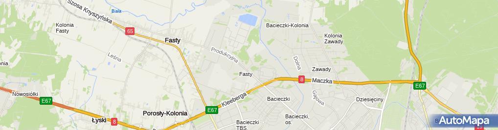 Zdjęcie satelitarne Stowarzyszenie Przewoźników Podlasia