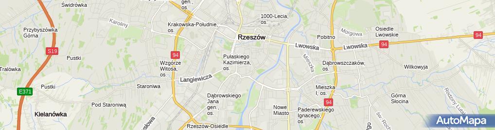 Zdjęcie satelitarne Stowarzyszenie Wzajemnej Pomocy Lekarskiej Regionu Rzeszowskiego