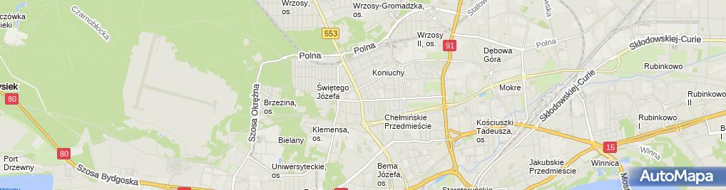 Zdjęcie satelitarne Strukturo Szymon Wiśniewski Projekty Budowlane i Usługi Inżynierskie