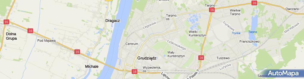 Zdjęcie satelitarne Studio Fryzur Alicja Nowińska